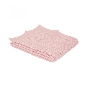 Cobija de punto para Bebé - Paz Rodríguez - Powder Pink
