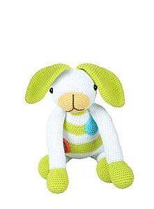 Conejo Blanco con Verde
